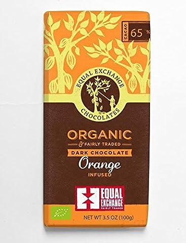 Equal Exchange | 65% Organic Dark Orange | 2 x 12 x 100g