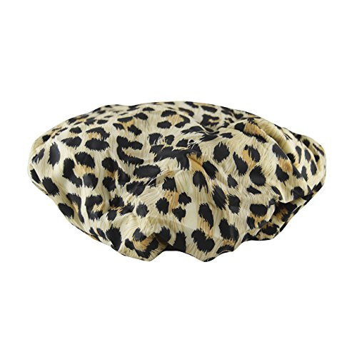 Betty Dain Stylish Design Terry Lined Shower Cap, The Socialite Collection, safari Spots