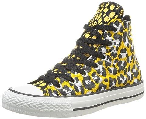 Converse Chuck Taylor All Star Animal Print Hi, Baskets mode femme - Or (Or Noir15), 38 EU