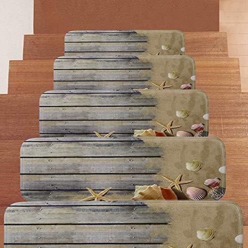 Textilfaser - Stufenmatten,Stufenmatten Kleinformat Für Raumspartreppen/Wendeltreppen(22 X 70 cm) (Color : 10pieces)