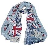 London uk fashion Streets Union Jack Large Maxi Scarf White