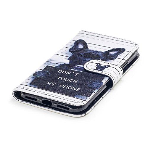inShang Custodia per iPhone X 5.8 inch con design integrato Portafoglio, iPhoneX 5.8inch case cover con funzione di supporto. dog