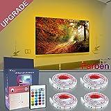 LED TV Hintergrundbeleuchtung, RGB 5050 2M USB LED Strip, LED Fernseher Beleuchtung, LED Streifen Für 40 bis 60 Zoll TV und Monitor, Backlight für TV, Ambilight TV Nachrüsten, LED lichterstreifen