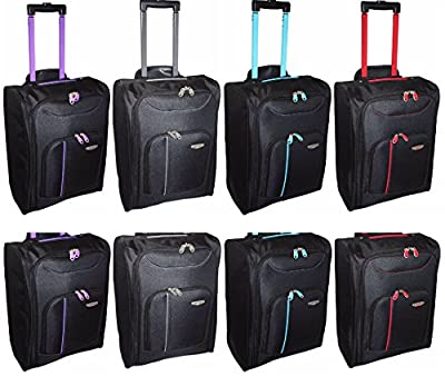 New Cabin Travel Wheeled Lightweight Bag Hand Luggage Suitcase Holdall Trolley - inexpensive UK light shop.