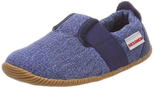Giesswein Unisex-Kinder Söll-Slim Fit Niedrige Hausschuhe, Blau (Dunkle Jeans), 24 EU