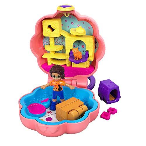 Polly Pocket GFM52 - Mini-Schatulle Shani und Katze, Puppen Spielzeug ab 4 Jahren (Polly Pocket Spiele)