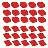 D & F 30Pcs Doppio Nastro Adesivo VHB 15 Pezzi Piatto + 15 Pezzi Curvo Laterale per GoPro Hero 6/5/4/3 +/3 SJCAM e altri Accessori per Casco Kit