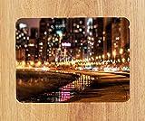 Hollywood Bodenablauf PU-Leder-Mauspad PC-Pad für Büro/Zuhause - Weiche Haptik (18 x 22 cm) - Genähte Kanten - Abwischbar - Tolles Geschenk - Kann als Kleiner Platzdeckchen verwendet Werden