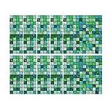 MOIKA 10pcs selbstklebende wasserdichte Marmor Mosaik Wandkunst Küche Fliesen Aufkleber