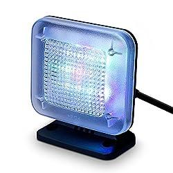 kwmobile LED TV Simulator Zeitschaltuhr - Fernseh Simulator Einbruchschutz mit Timer - Dummy Lichtsimulation - Fake Attrappe Home Security