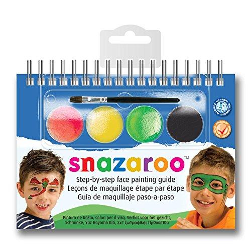 Snazaroo Mini Kit + Libretto Trucco Mostri Eroi Make Up Body Face Paint Truccabimbi