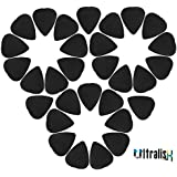 Alice Ultralisk 5 Pcs Celluloid Plectrums Acoustic Electric Guitar Picks 0.71mm (Black)