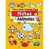 Libros Para Colorear Para Niños: Animales: Relajantes Libros Para Colorear Para Niños De 2-4, 3-6, 7-9 Años, 48 dibujos, Libr
