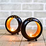 #8: Ethnic Indian Designer Circular Votive Candle Holder Stand Tealight Candle Home Decor Christmas Gift Decoration by Casa Decor
