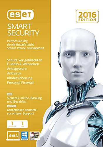 ESET Smart Security 2016 - 1 Computer (Frustfreie Verpackung) -