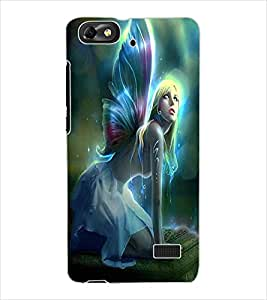 ColourCraft Angel Design Back Case Cover for HUAWEI G PLAY MINI