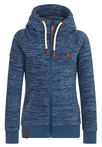 Naketano Female Zipped Jacket Gigi Meroni Pimped Blue Stone Melange, XL