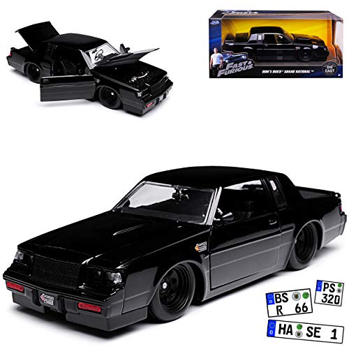 Jada Buick Grand National Schwarz Dom\'s Dominik Toretto Vin Diesel The Fast and The Furious 4 1/24 Modell Auto