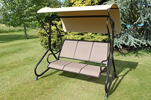 Great Blenheim Luxury Heavy Duty Garden 3 Seater Swing Seat Hammock REDUCED