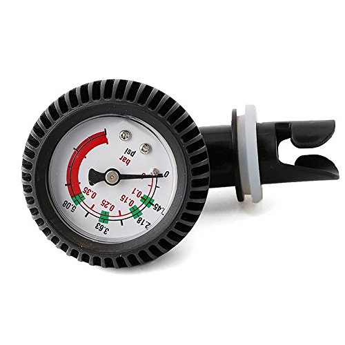 Morehappy7 Aufblasbares Boots-Luftdruckmessgerät, Barometer, Placstic Air Manometer 0-5,08 PSI Barometer für Kajak Aufblasbares Boot Sup Board Raft