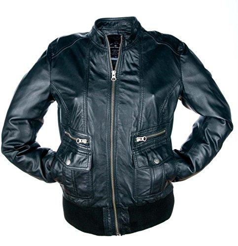 Tom Tailor veste en cuir, femmes (black) Black