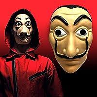 SchoolWaale -Halloween Mask, La Casa De Papel Mask Money Heist Salvador Dali Face Mask, Holi, New Year Party - Pack of 1