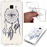 Pour Samsung Galaxy A3 2016 A3100 A310F Coque,Coffeetreehouse Coque Etui Silicone Transparente Gel TPU Bumper Anti Poussiere Resistance Anti-rayures Case Cover Couverture Pour Samsung Galaxy A3 2016 A3100 A310F - Bronzante Dreamcatcher