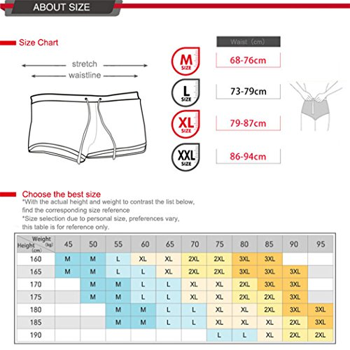 VENIMASEE® Einzigartige Mesh-Manner Print Stretch Schwimmen Trunk Low Taille Schnürung Spa Swim Trunks Dunkelblau