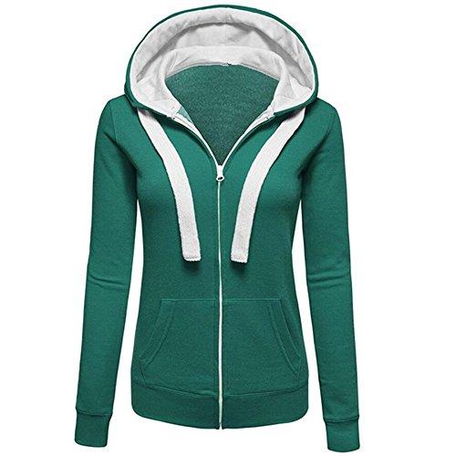 JUTOO Womens Warm Hoodies Kapuzenpulli Sweatershirt Kapuzenpulli Pullover Mantel Zip ()