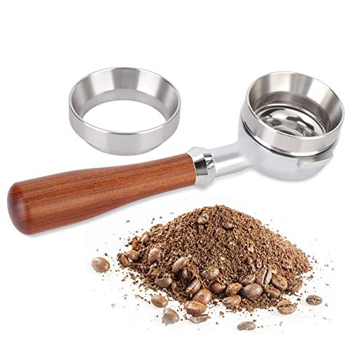 Mumusuki Dosierring Magnet Silber Aluminiumlegierung Universal Kaffeemaschine Zubehör Home Küche (58 mm)