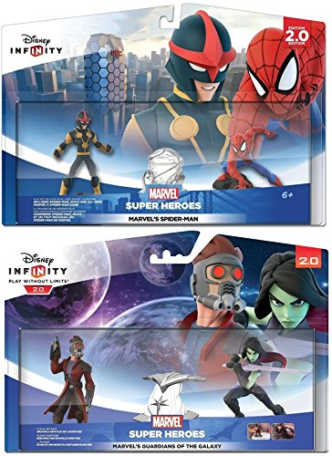 Disney Infinity 2.0: Guardians Of The Galaxy + Ultimate Spider-Man Playsets (Disney Guardians The Of Galaxy)