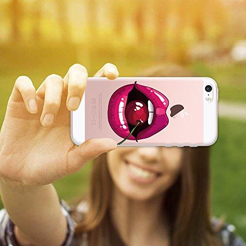 iPhone SE iPhone 5 5S Hülle, WoowCase® [ Hybrid ] Handyhülle PC + Silikon für [ iPhone SE iPhone 5 5S ] Wolf-Fußabdruck Sammlung Tierentwürfe Handytasche Handy Cover Case Schutzhülle - Transparent Hybrid Hülle iPhone SE iPhone 5 5S D0137