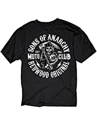 Sons of Anarchy - Motoclub Redwood Original Homme T-Shirt - Noir