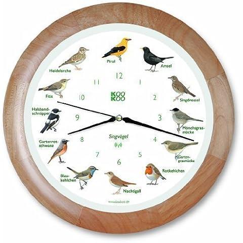 Legno uccelli canori, movimento quarzo radio rc,