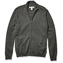 Amazon Essentials Cotton Full-zip Sweater Charcoal Heather, Medium