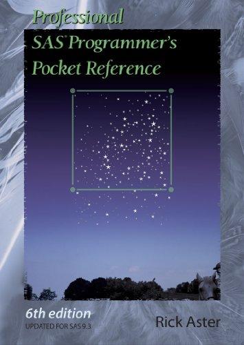 Professional SAS Programmer's Pocket Reference Pocket Programmer
