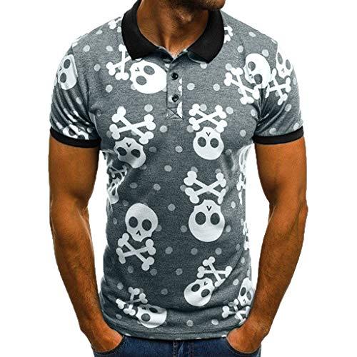 MNRIUOCII Poloshirt Herren Sommer, Polohemd Neueste Taro Drucken Polo Shirt Kurzarm Hemden Basic T-Shirt Freizeithemd Sweatshirt Casual Sportshirt Oberteile - Drucken Polo