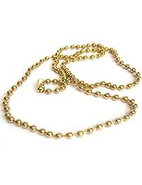 Chapado en oro de 76,2 cm, longitud de 4 mm de grueso con Hiphop cadena