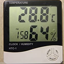 HYGROMETER AND THERMOMETER CLOCK FOR HUMIDITY AND TEMPERATURE DISPLAY