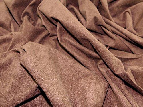 Polyester Wildleder; Kleid Stoff braun-Meterware + Frei Minerva Crafts Craft Guide -