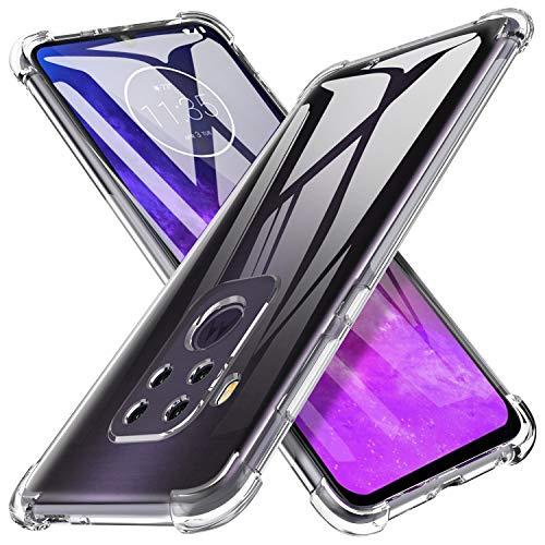 iBetter Coque pour Motorola One Pro/Motorola One Zoom, Soft Premium TPU Transparent, Anti-Slip, Résistant aux Rayures, pour Motorola One Pro/Motorola One Zoom Smartphone.Transparent