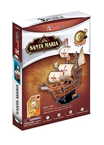 CubicFun- Puzzle 3D Carabela Santa Maria (CPA Toy Group Trading S.L. T4008)