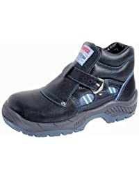 DDTX Zapatos de Seguridad de Plástico Toe Con Placa de Kevlar Lightweight Unisex-adulto Negro(45)