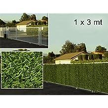 bordura bicolore siepe artificiale 1x3 metri esterno alta qualità privacy