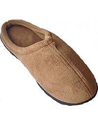 Natleat SlippersSlipper Mules - Sandalias con cuña para chico hombre , color rojo, talla 41.5