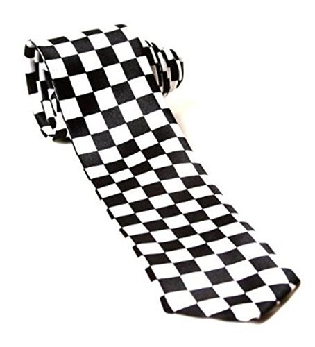Childrens Kids Boys Girls Police Policeman Black White Chequered Tie Fancy Dress Accessory