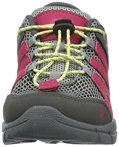 Jack Wolfskin Volcano Air Low K, Chaussures de Randonnée Basses Mixte Enfant Rose (rosebud 2099)
