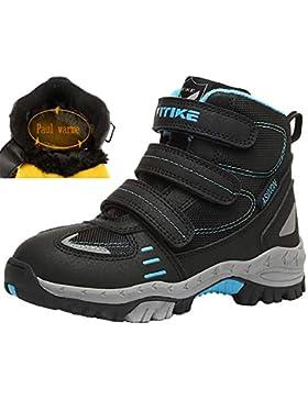 [Patrocinado]VITIKE VTKZapatos de Senderismo Niño Zapatos de Botas de Invierno para Niños Botas de Senderismo Cálido Forro...