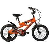 "Firefox Zunami 16T Kids Cycle I Ideal for :5-7 Years I Light Weight Frame   Anti-Skid Pedal I Power Brake I Seat Height Adjustment I Free Training Wheel   Frame Size: 9.5"""