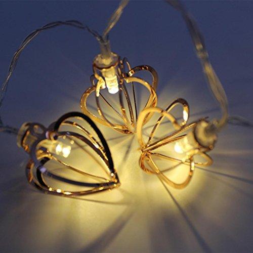 Xshuai Qualitäts-heißer Verkauf 10 LED Halloween-Weihnachtshochzeitsfest-Festivals-Dekor-im Freien feenhafte Schnur-helle Lampe (A: 4.5 * 3.5cm; B: 8 * 4.5cm; C: 3 * 2.5cm; D: 6.5 * 4.5cm Gelb) (Freien Im Dekor Halloween)